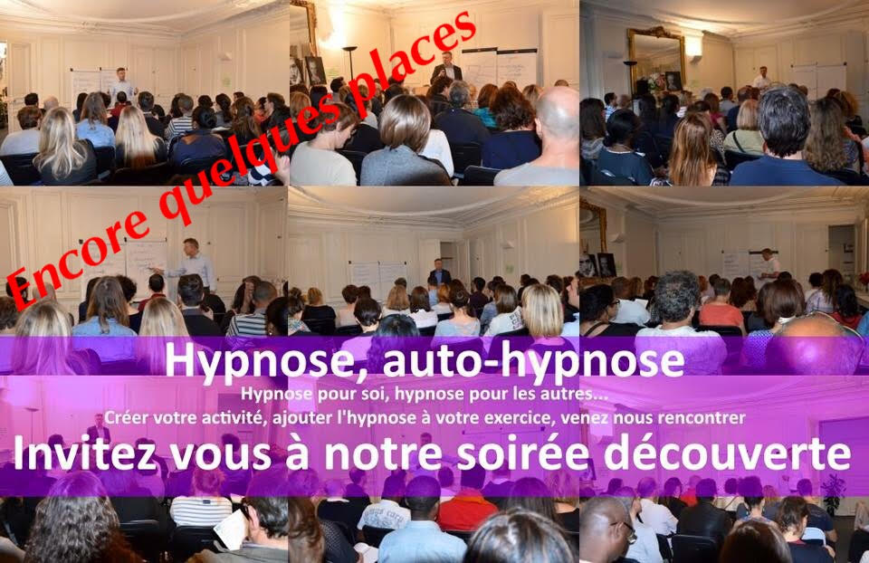Soirée découverte hypnose et auto hypnose le jeudi 11 mai 2017 (gratuit).