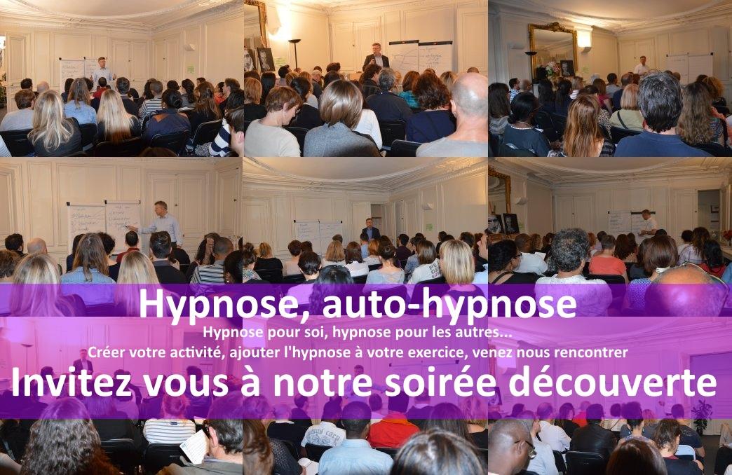 Soirée découverte hypnose et auto hypnose le jeudi 16 juin (gratuit).