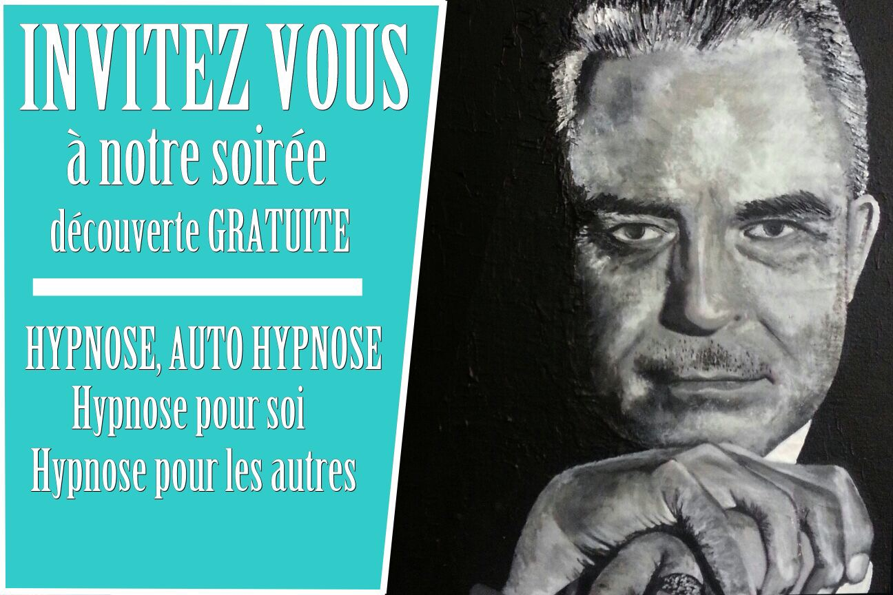 Soirée découverte hypnose et auto hypnose le jeudi 15 mars 2018 (gratuit).
