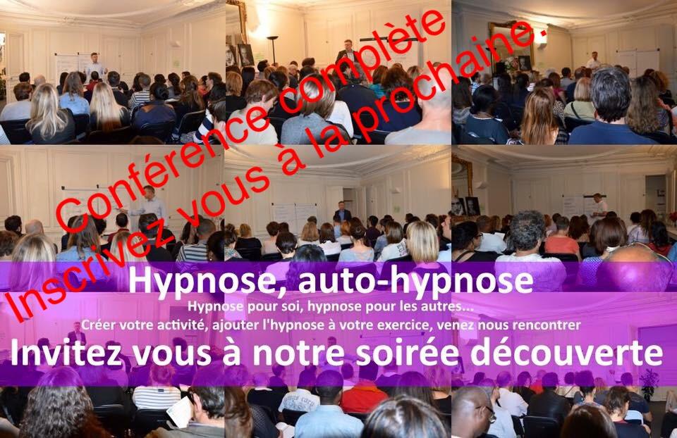 Soirée découverte hypnose et auto hypnose le jeudi 13 décembre 2018 (gratuit).