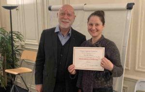 France-Hypnose-Formation : remise de diplome