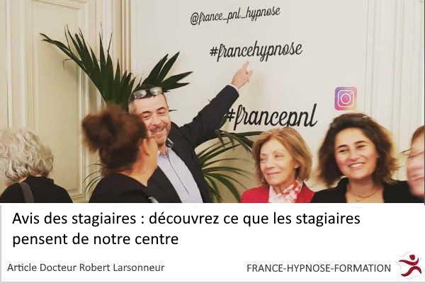 France-hypnose-formation : avis des stagiaires