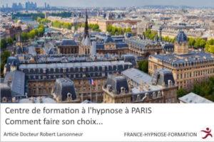 Centre de formation a l'hypnose à PARIS