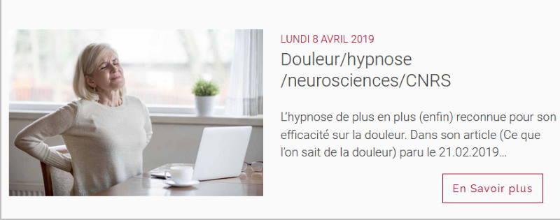 France-Hypnose-Formation : hypnose et douleur