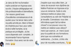 France-Hypnose-Formation témoignage de nos stagiaires